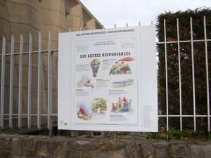 Panneau d'information sur les écogestes